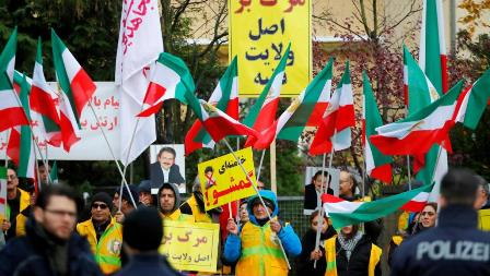 iran fuel protest germany1